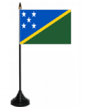 Solomon Islands Desk / Table Flag with plastic stand and base.